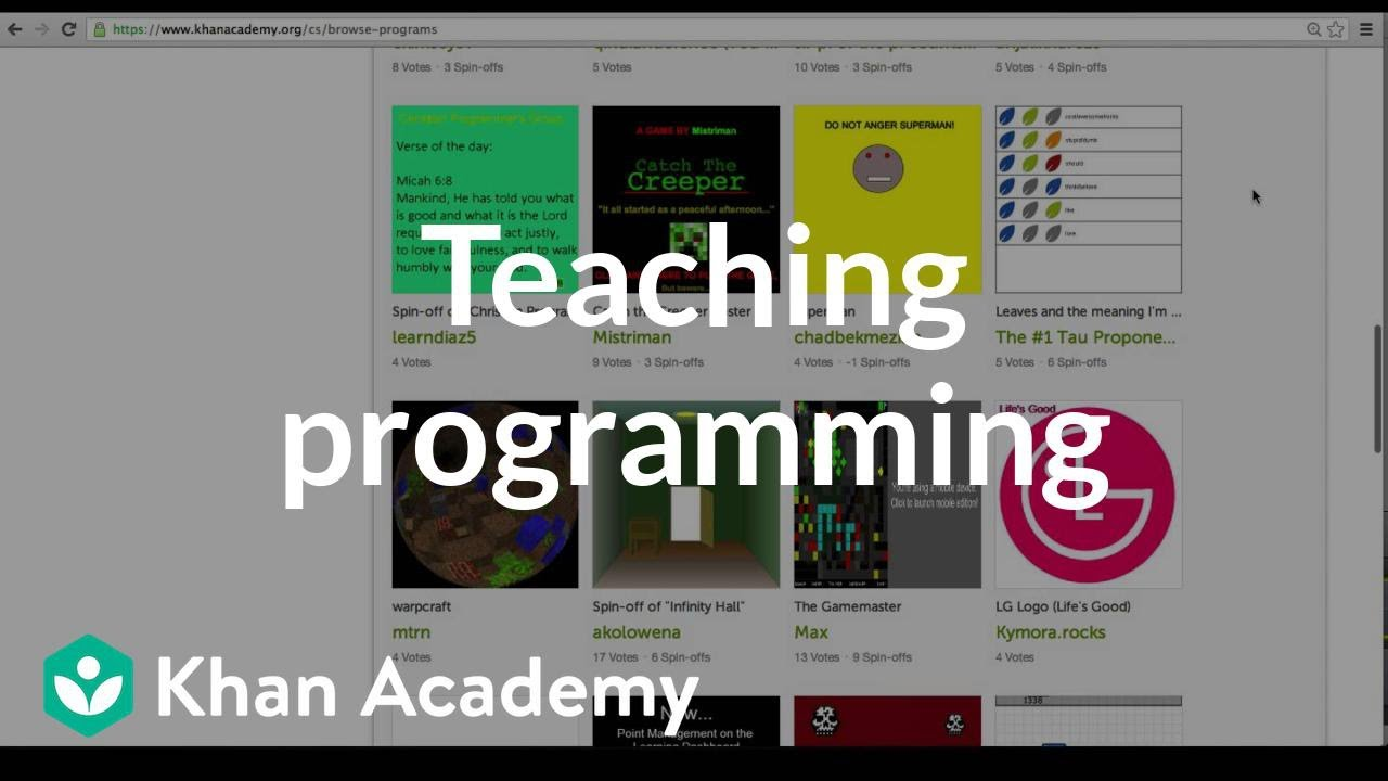 Khan Academy Computer Programming In The Classroom Video Overview