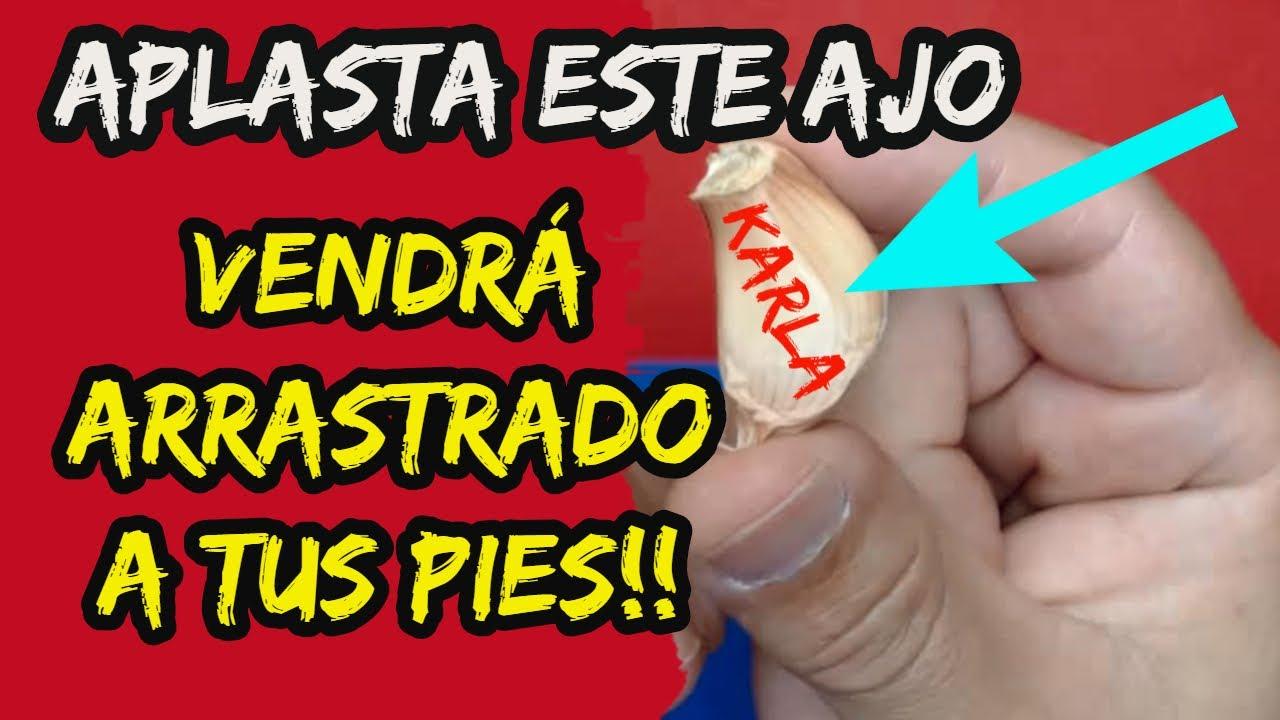 AMARRE DE AMOR SOLO CON AJO!! VENDRÁ ARRASTRADO A TUS PIES! 100% garantizado.