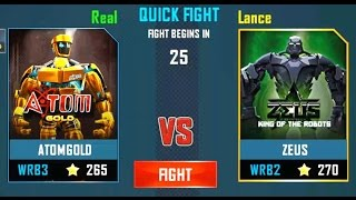 REAL STEEL WRB Atom Gold VS Zeus New Robots GOLD UPDATE (Живая сталь)