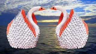How to make a paper Swan - Origami Swan - 3D Swan Origami - Paper Craft - কাগজের তৈরি জিনিস