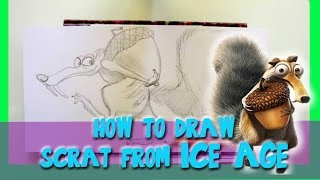How to Draw SCRAT(the Squirrel) from Blue Sky