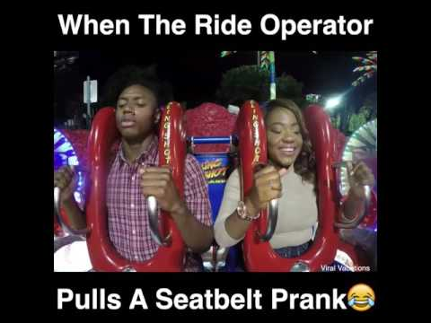 Mychal Maguire - Ride Operator Pulls Seatbelt Prank On Man & Woman