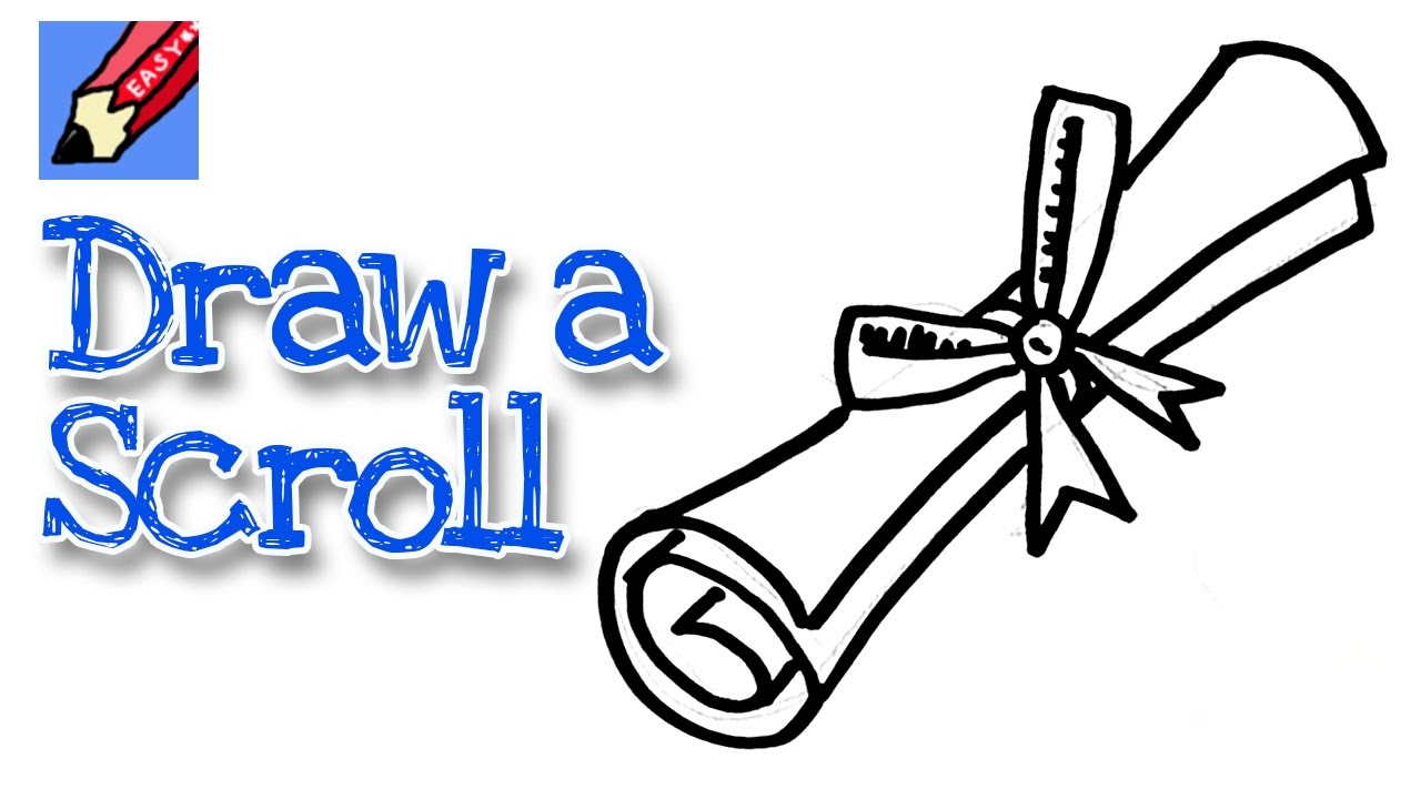 How to draw a graduation scroll real easy for kids and beginners how to draw a graduation scroll real easy for kids and beginners youtube ccuart Image collections