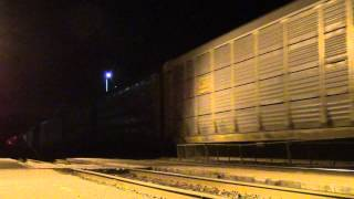 CN 309 and 310 meet at the Brockville VIA station after midnight.