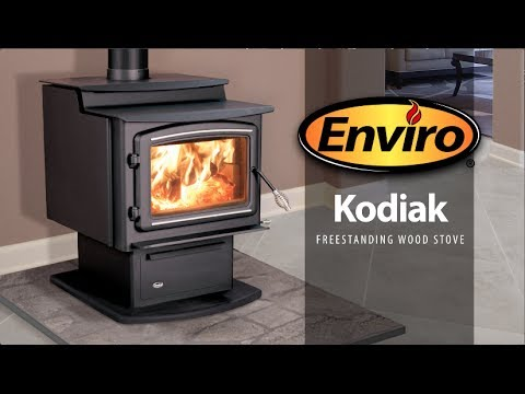 Kodiak Freestanding Wood Stove Burn Example Youtube