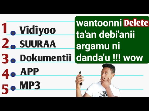 Falii argamee wana bade debiisuf:: Best method to get lost file,photo,video, and more