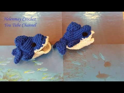 Crochet Quick And Easy Beginner Baby Shark Sock Slippers DIY Enchanting Crochet Shark Slippers Pattern Free