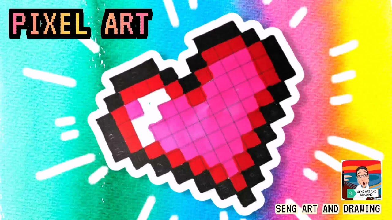 HEART PIXEL ART ❤ 心形像素艺术 ❤ Seni Piksel Hati ❤