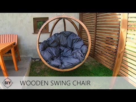 DIY Wooden Outdoor Swing Chair / Wiszący fotel ogrodowy