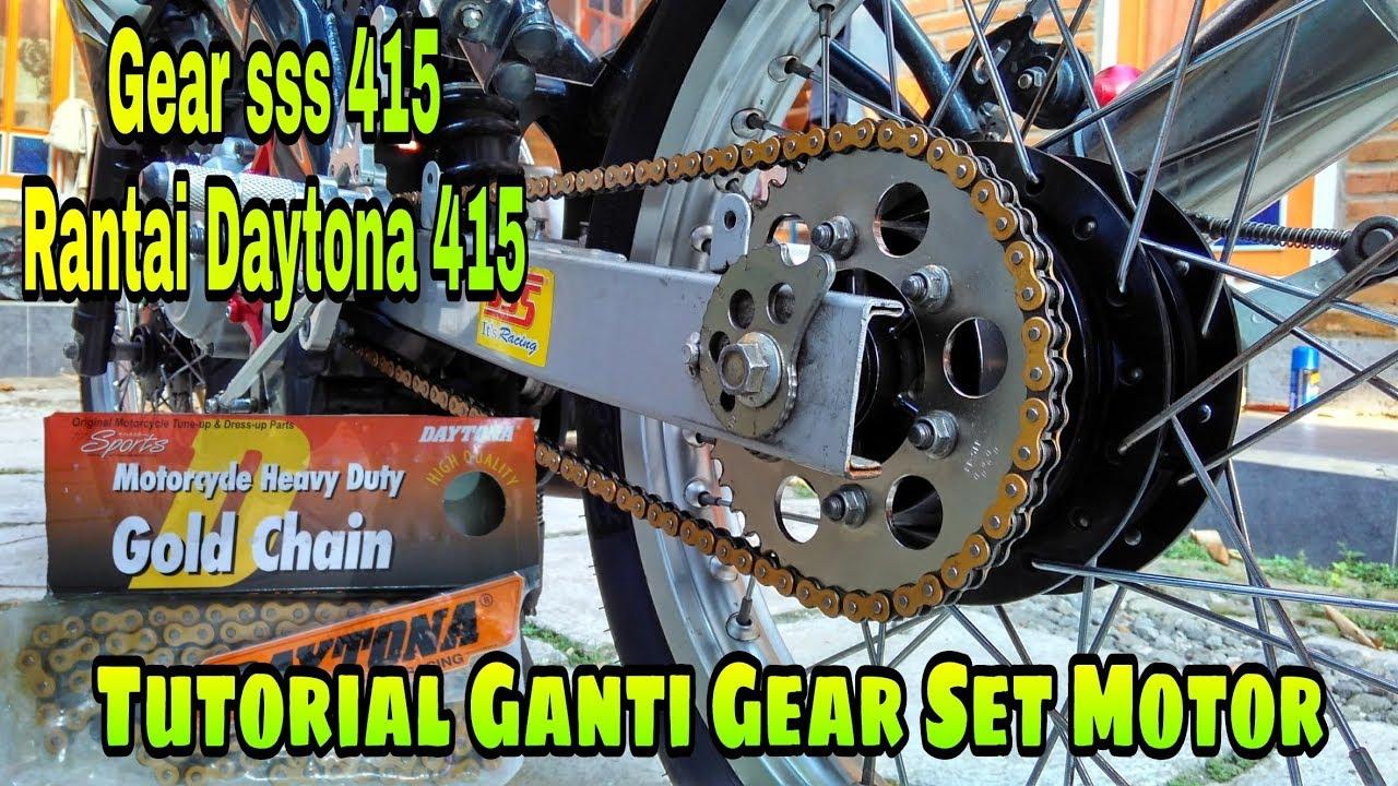 Tutorial Pasang Gear SSS Pakai Rantai Daytona Di Yamaha vixion