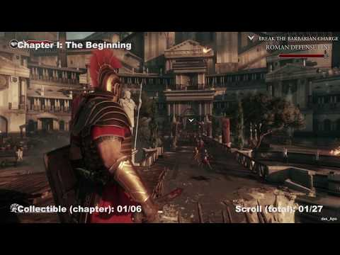 Ryse: Son of Rome - 100% Collectibles Guide - Chapter 1: The Beginning - Chronicles/Scrolls/Vistas