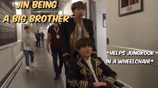 jin being a big brother for 6 minutes