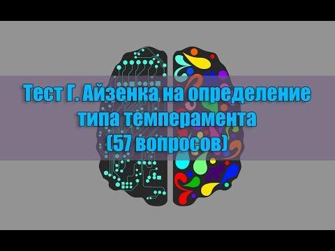 Тест Г. Айзенка на определение типа темперамента (57 вопросов)