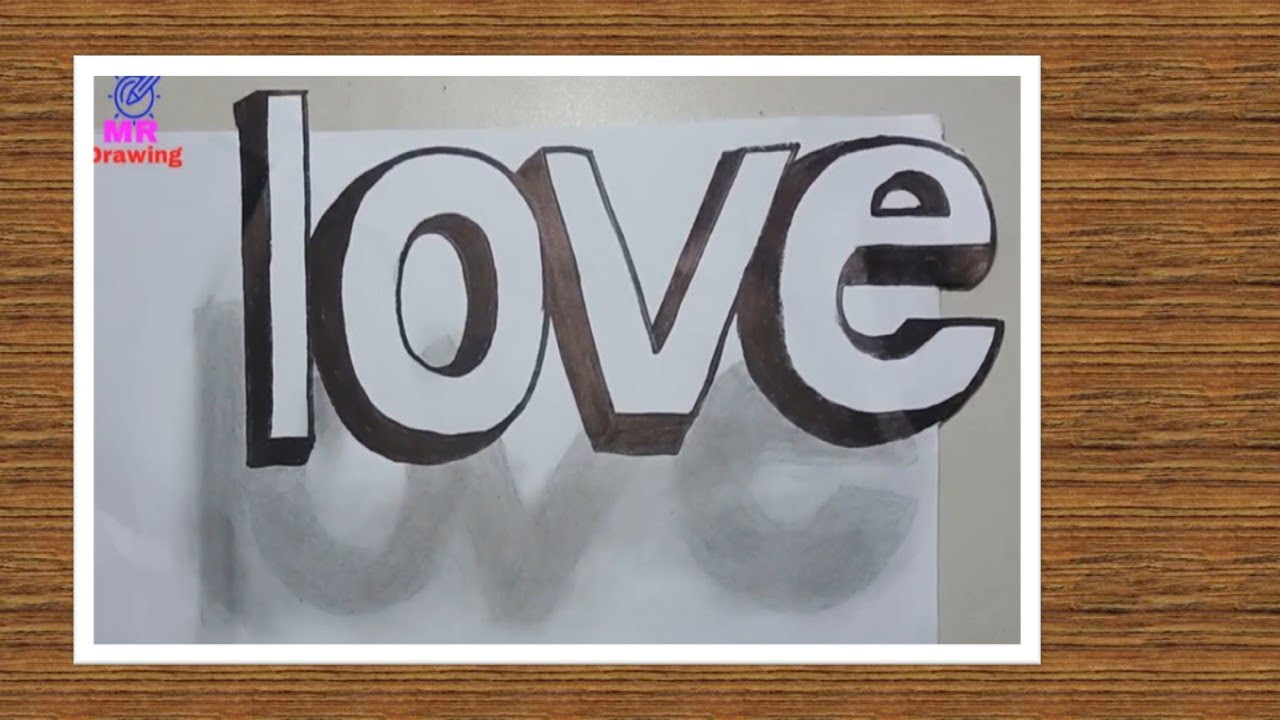 How to art 3d graffiti of love step by step