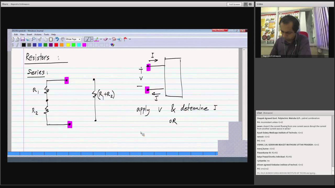 Mod-01 Lec-03 Definition of a linear element; Elements in series and parallel;