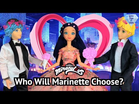 Ladybug PROM Adrien Or Luka Marinette King and Queen Dolls Dance Miraculous Season 3 Episode ENG