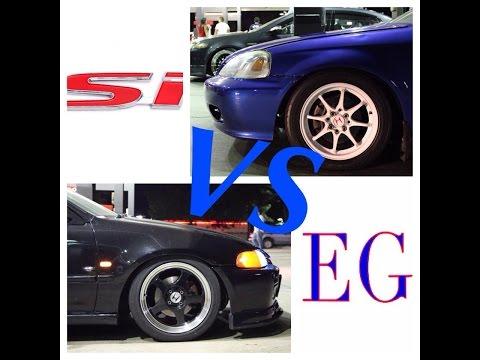 Turbo Civic SI vs B20V Eg hatch