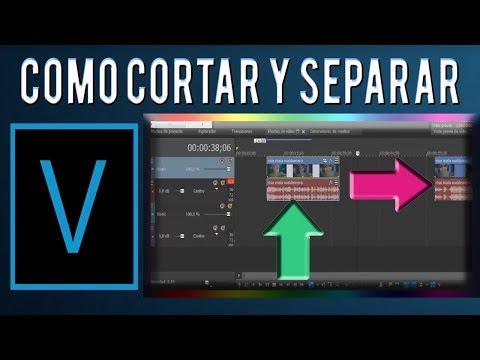 Como Cortar Y Separar El Audio De Un Vídeo En Sony Vegas Youtube