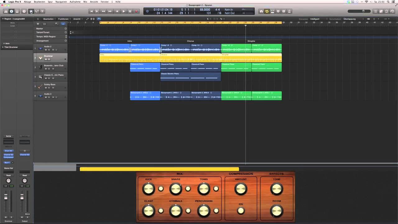 Amount Deutsch logic pro x deutsch - der drummer (2/2) - logic x tutorial 3 - logicx