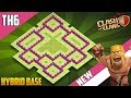 BEST BASE TH6 HYBRID/TROPHY Base 2018!! COC Town Hall 6 (TH6) Hybrid Base Design - Clash of Clans