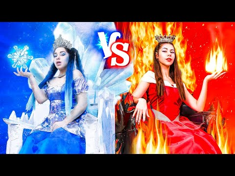Panas vs Dingin / Putri Api vs Putri Es
