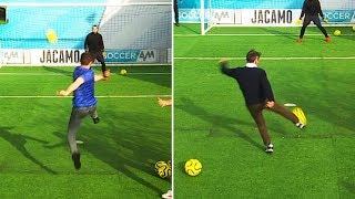 Zola assists the Chelsea fans! | Soccer AM Volley Challenge