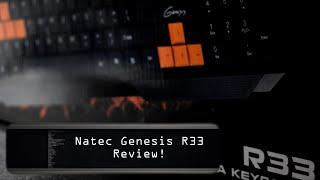 Natec Genesis R33 Keyboard Review - PCychologists!