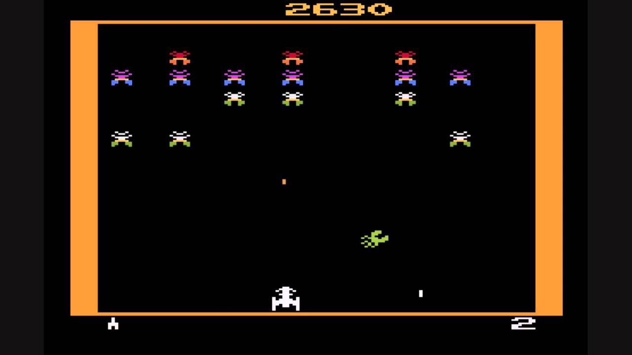 The impressive Atari 2600 conversion of Galaxian