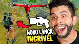 MOSTREI A NOVA ARMA E O PLANADOR NO SERVIDOR AVANÇADO DO FREE FIRE!!