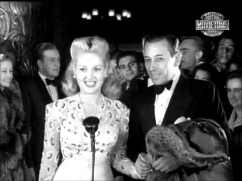 Betty Grable Carole Landis George Burns Movie Premiere