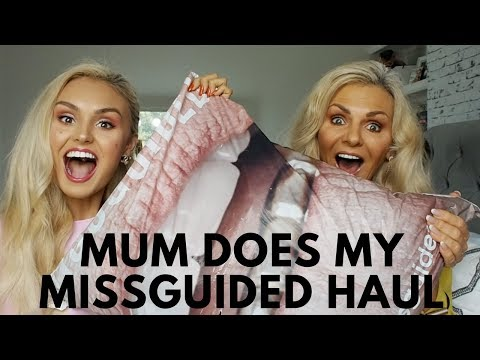 Missguided Haul - Try On - SEP- My Mum does my shopping😂 😂 -Round 2 💗
