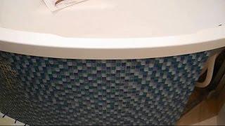 Монтаж угловой,акриловой ванны ч.5(В ролике показано каким образом угловатую конструкцию экрана-короба под ванной сделать с идеально гладким..., 2014-12-14T20:26:17.000Z)