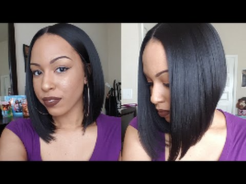 BOMB Middle Part Bob  Magic Lace Curved Part Wig