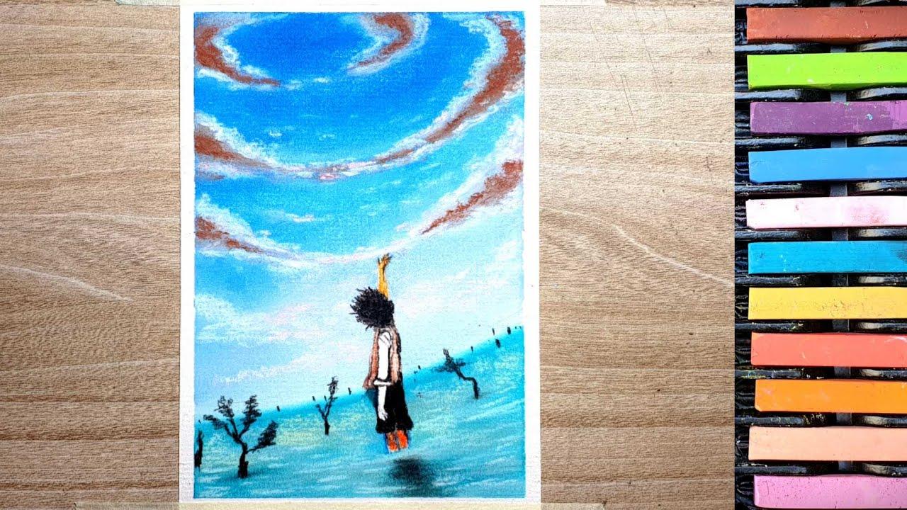 Vẽ tranh phong cảnh anime I K37P1 Art