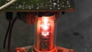 CRT filament overvolted
