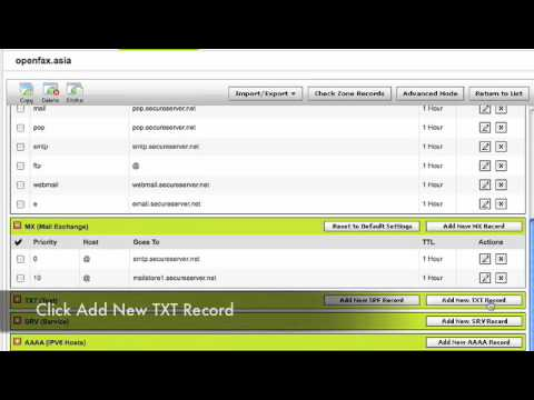 Adding A Spf Record With Godaddy For Use With Openfax Ebsairmail