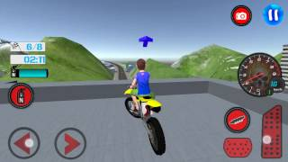 Kids MotorBike Roof Top Stunts