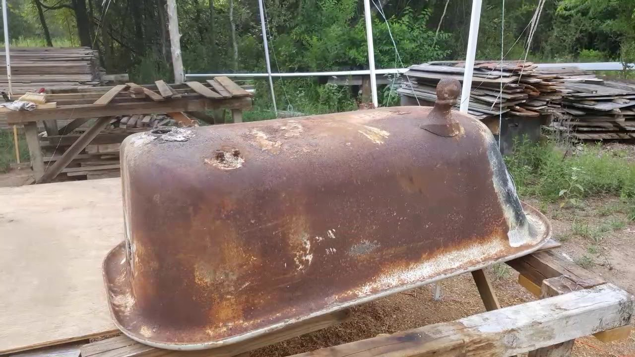 Restoring 100 year old clawfoot tub the houses built tiny for Built in clawfoot tub