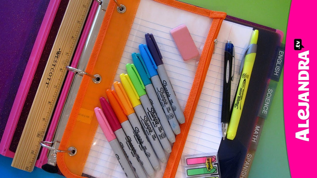 Back To School Organization How To Organize Your Binder Supplies