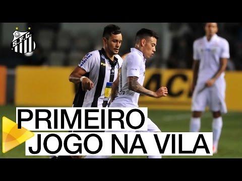 Maxi Rolón estreia na Vila Belmiro