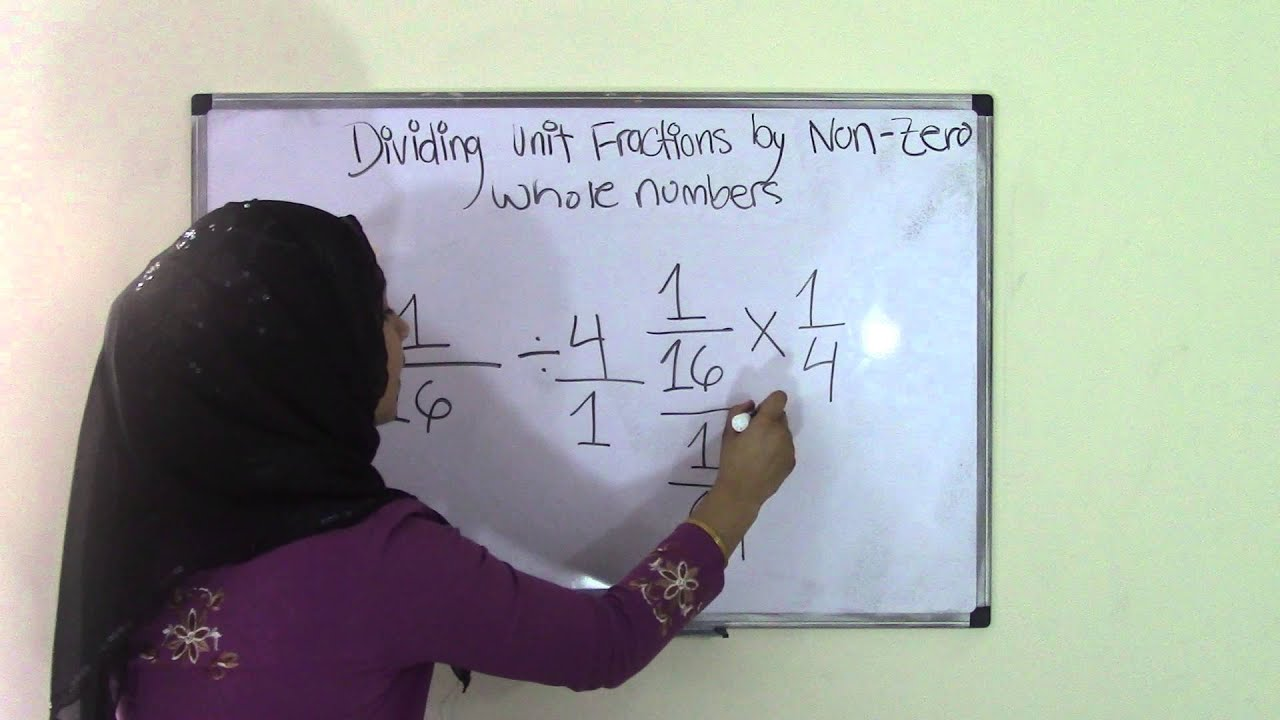 5th Grade Math Dividing Unit Fractions By Non Zero Whole Number