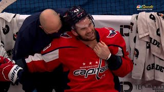 Scott Mayfield Breaks Stick On Tom Wilson