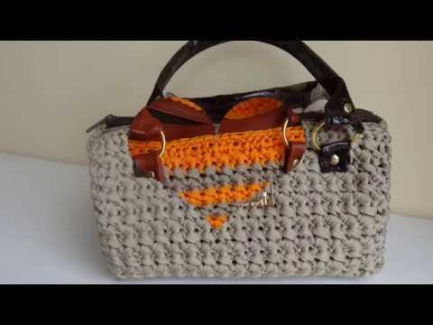 Bolsos carteras tejido a crochet en trapillo e imitacion for Bolsos de crochet de trapillo