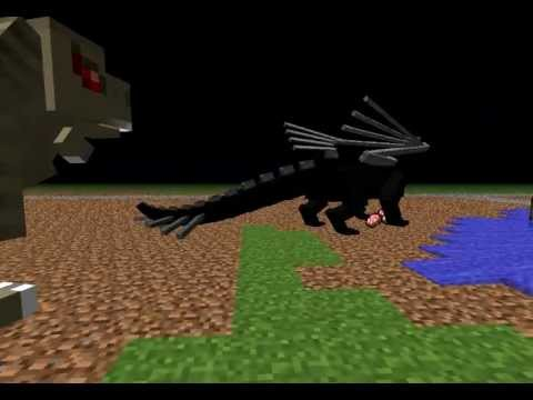 Minecraft:Enderdragon vs Trex