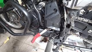 Check engine light error code 25 :  gear sensor malfunction.. change sprocket .. help ..!! Versys