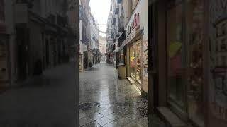 Granizo sobre el centro de Sevilla en pleno julio