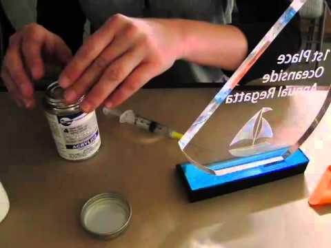 Using acrylic glue on awards