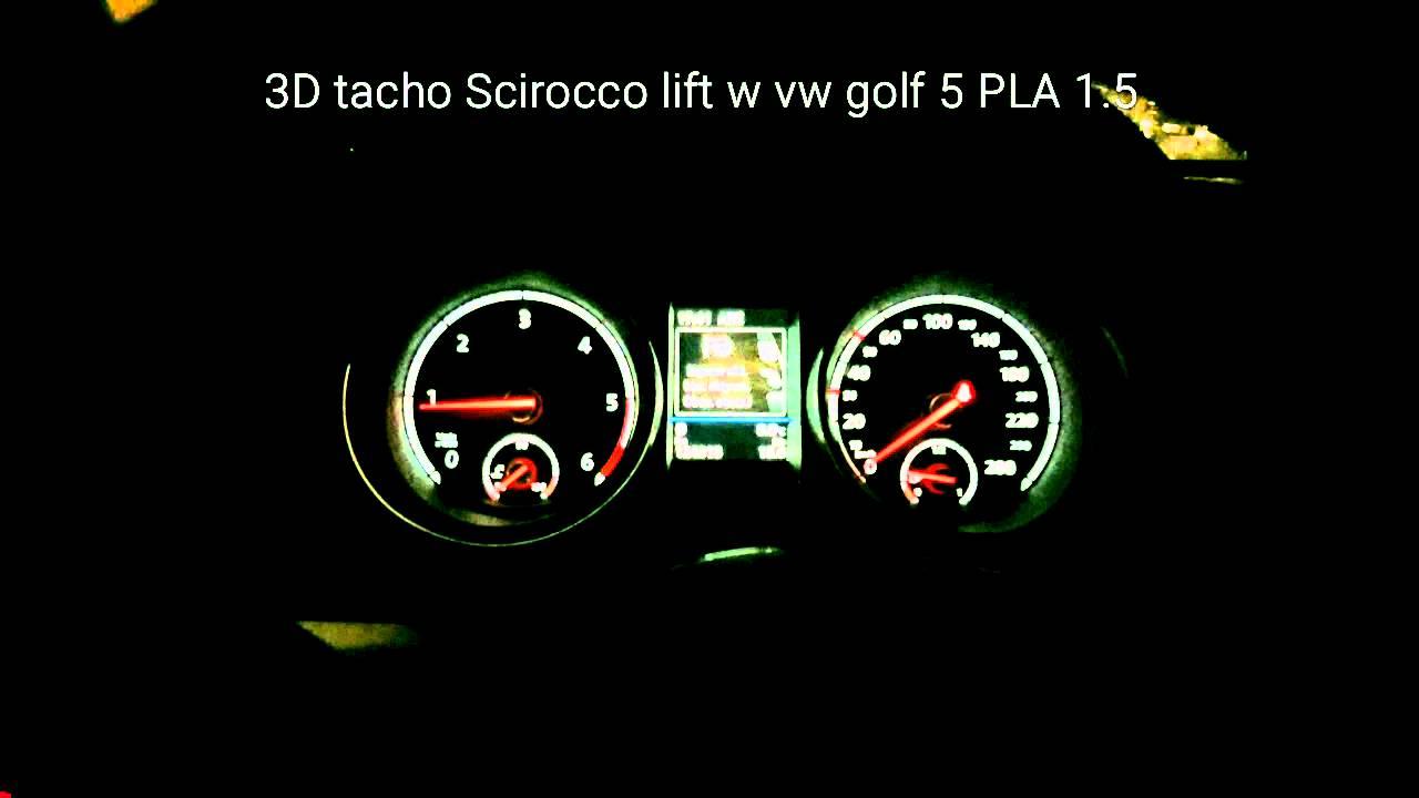 3d tacho scirocco lift 1k8920885d w vw golf 5 pla 1 5. Black Bedroom Furniture Sets. Home Design Ideas