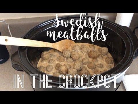 Swedish Meatballs In The Crockpot.!!