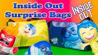 Opening the  Inside Out Surprise Bags and Eggs Toys with the Assistant